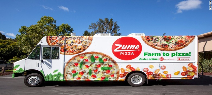 Пицца, Pizza, доставка, роботы, Zume Pizza, фургон, стартап