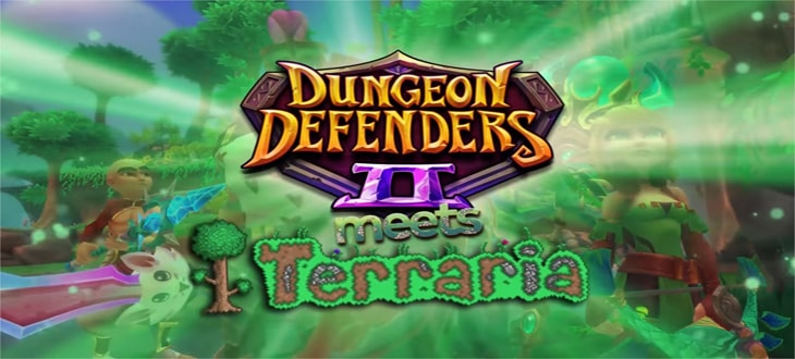 Terraria, Dungeon Defenders 2, crossover, кроссовер, Террария